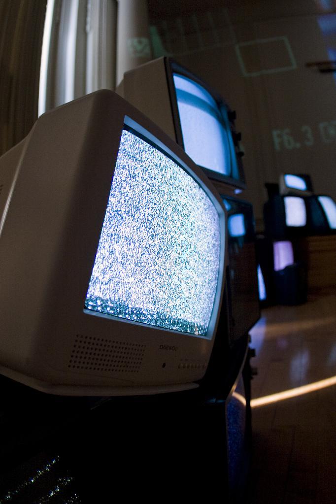 tv pile